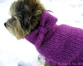 Mohair and Wool Dog Sweater with Bow (M)