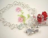 Chasing Hearts - Sterling Bracelet