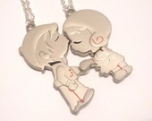 Lovers Kissing Couple Necklaces