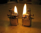 Vintage WORKING Penny Lighter Cufflinks