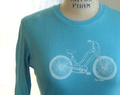 Long Sleeved Cruiser Bicycle Tee pick your size and colors