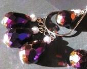 Glamourous Purple Chandelier Earrings