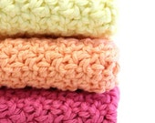 Sorbet Collection - Crochet Cotton Dishcloths