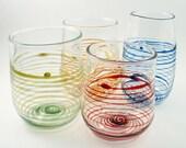 Handblown Glass Tumbler Set