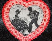Vintage Valentine Card 1900s Heart Love Romance
