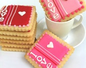 Valentine's Day LOVE Tiles (4 cookies)