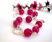 Wainting for Spring - Pink Quartz Faceted Beads Bracelet