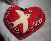 Valentine pillow card or cash holder