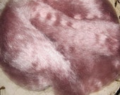 Ashes of Roses Kid Mohair Top Roving Mauve