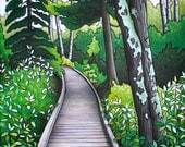 8 x 10 Fine Art Giclee Print - 'Gone Camping - Kempf's Trail Boardwalk'