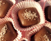 "Chocolate Dipped ""Fleur-de-Sel"" Salted Caramels"