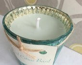 COOL CITRUS BASIL Handcrafted Soy Candle Recycled (6 oz.)