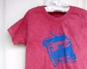 Toddler and Childrens royal typewriter Tee shirt in  burgundy or custom colors