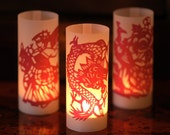 DIY Single Paper Cut Luminary - set of 50 (shipped flat)