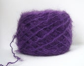 Purple  Mohair Wool Blend Fingering Weight Recycled Yarn - 244 yards