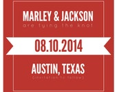 Jacks Save the Dates - Red