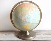 vintage replogle 12 inch globe
