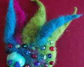 Felt wearable sculpture OOAK