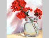 RED PETAL Geranium Pastel Reproduction AlisaPaints