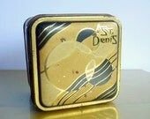 Art Deco French Powder Tin from St. Denis