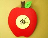 Juicy  Apple Wall Clock--Fully Customizable