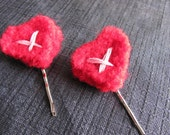 X Marks The Heart Hair Pin Set