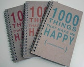 1000 Things That Make Me Happy - A gratitude journal