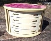 Unique Jewelry Chest of Drawers with Rollback Doors