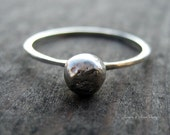 O Ring. Sterling Silver Organic Ring. Size 8.5. FREE SHIPPING.