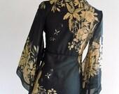 Kamilah Kimono Blouse . XS . small . SM . D135 .