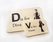 Fashionable Flashcards set of 10