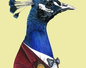 Peacock print 8x10