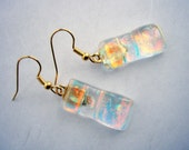 Romantic Firelight Artglass Earrings