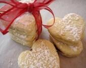 Raspberry Lemon Heart Sandwich Cookies