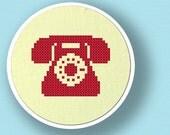Telephone Silhouette. Cross Stitch Pattern