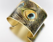 Panoramic Cuff - Peacock Feathers - MULTI - Free Shipping