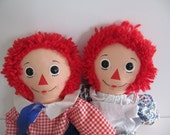 1970s  Raggedy Ann and Andy Dolls