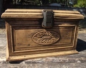Vintage Wood Look Sewing Box With Many Extras by Lerner