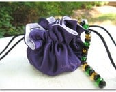 Drawstring Jewelry Travel Bridesmaid Gift Party Favor Bag - Purple Satin - ORDER Multiples For Bridal Party