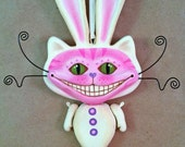 Bunnycat Ornament - Contemporary Folk Art Doll