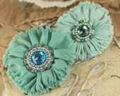 Регент Коллекции: Камберленд - Turquoise Sheer Цветы Ткань