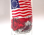 Vintage Coca Cola Heritage Collection First Stars and Stripes Glass 1973