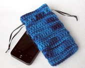 Cell Phone Holder - Denim - by Lostsentiments