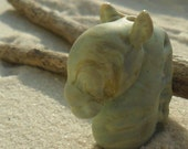 Horse Head, Lampwork Focal Sculpture Bead