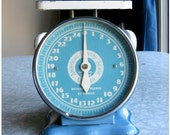 Vintage American Family Scale, Steel Blue, 25 lbs - the WEIGHT of the WORLD