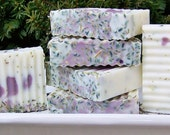 Natural Lavender Exfoliation Soap - Lavender & Vanilla scent (5 oz)
