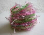 Elegant April sweet pea fiber embellishment bundle