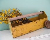 What a Tool... Vintage Metal Garden Tool Box Caddy Carrier