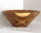Small to  Medium Mesquite STAR Bowl, hand turned,  art piece with slight rim and few natural cracks and inclusions 209