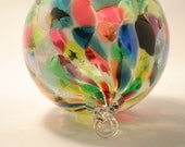 Ornament Suncatcher Hand Blown Art Glass in Spring Magic Mix by Totally Blown Glassworks